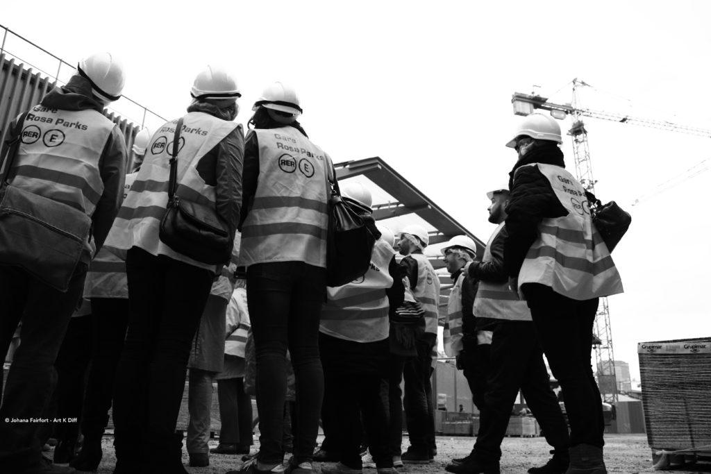 Visite chantier gare Rosa Parks
